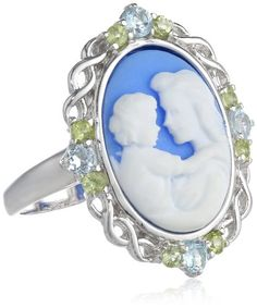 Sterling Silver Blue Topaz, Peridot and Blue Cameo Ring, Size 7 Amazon Curated Collection http://www.amazon.com/dp/B004AHKMGQ/ref=cm_sw_r_pi_dp_tVE9ub0WKZA39