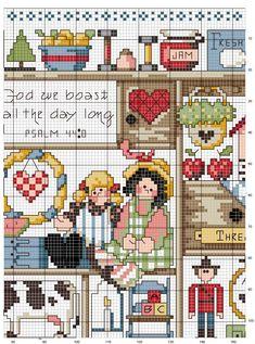 Schema punto croce Country-heart-3