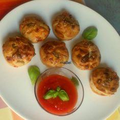 Muffins salados con gusto a pizza