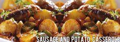 Recipe: Sausage and Potato Casserole Potato Dishes, Potato Casserole, Baked Potato, The Good Place, Sausage, Food And Drink, Potatoes, Vegetables, Ethnic Recipes
