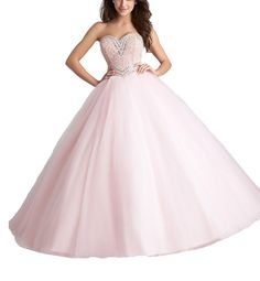 Beiji Women's Strapless Pearls Quinceanera Dress Corset Wedding Ball Gowns 8 US Pink. 1.Please choose a right size from our size chart. If the size doesn't fit you well, please contact us in advance and tell us your exact measurements: bust,waist,hips,hollow to floor without shoes,the heel of your shoes and your height from head to toes. 2.The dress can be customized to be the color you want. 3.The dress doesn't have any accessories, which are shown in the pictures. 4.The shooting light…
