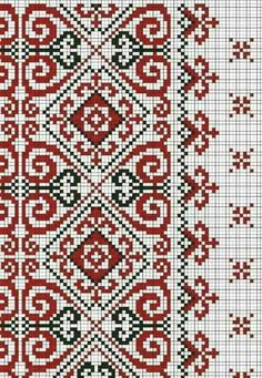 Cross Stitch Borders, Cross Stitch Designs, Cross Stitching, Cross Stitch Patterns, Beaded Embroidery, Cross Stitch Embroidery, Embroidery Patterns, Knitting Patterns, Bordado Popular