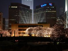 Gene Leahy Mall, with the Christmas lights all up! Omaha, Nebraska