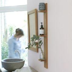 How to clean a bathroom? Teak Bathroom, Rustic Bathrooms, Bathroom Fixtures, Bathroom Furniture, Bathroom Wall Shelves, Bathroom Cupboards, Corner Storage Shelves, Bathroom Storage Solutions, Diy Bathroom Remodel