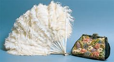 """""""A fan and an embroidered bag, belonged to Olga or Tatiana, Nikolay II's eldest daughters"""""""