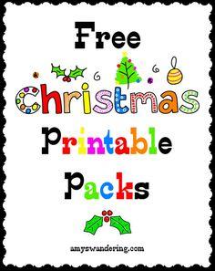 30 FREE Christmas Printable Packs for PreK - Early Elementary Preschool Christmas, Christmas Activities, Christmas Crafts For Kids, Christmas Fun, Free Homeschool Curriculum, Homeschooling, School Fun, School Stuff, School Ideas