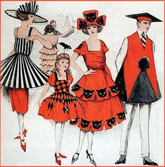 Deco Flapper Crepe Costume Illustration From Bogie Book