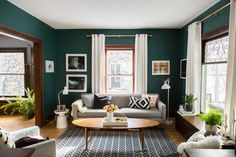 Name: Alison and Jeff Allen (and sons Finn & Gus) Location: Minneapolis, Minnesota Size: 2,200 square feet Years lived in: 6 years; Owned I stumbled upon Alison's home via Instagram and knew right away that I found a gem. A bold teal living room is always a good sign! As I got to know Alison through her blog (Deuce Cities Henhouse), which features her home improvement projects, my excitement grew to see it in person. Alison welcomed me into her home filled with plants, patterned w...
