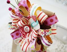 Paper and Ribbon Flower