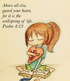 Received this in a txt message this morning, read it in a book now see it on my wall... Lord, help me to guard my heart!
