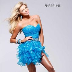 """💙 SHERRI HILL DRESS 👏🏻 Worn ONCE. Beautiful light blue color. Sherri hill brand. Size 2. EXCELLENT condition. I am 5'2"""". No rips, snags, or stains. Sherri Hill Dresses Prom"""