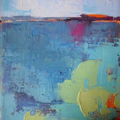 Blue - Print by Carol Schiff - Blue is probably my favorite color.blue of the sea,. Vango Art, Selling Paintings, My Favorite Color, Original Art, The Originals, Studio, Art Ideas, Crafts, Blue