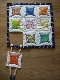 Doll quilt - Veronica Johnson |  This is just perfect!  Love the sense of humor.