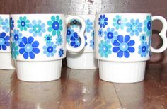 Awesome RETRO 1950's/60's Vintage COFFEE MUGS by GretelsBoutique, $16.50