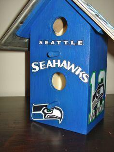 Seattle Seahawks Super Bowl XLVIII Champions Birdhouse