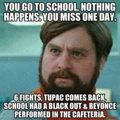 THIS HAPPENS EVERY TIME I MISS SCHOOL! My school had a flipping dance party outside when I left early for a doctors appt!