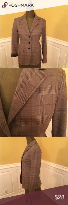 Michael Kors Brown Plaid Blazer Michael Kors Brown Plaid Blazer Michael Kors Jackets & Coats Blazers