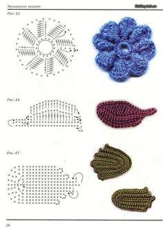 Delicacies in crochet Gabriela: Flowers