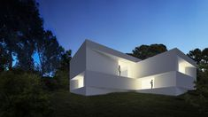 The architecture studio Fran Silvestre Arquitectos has unveiled their new project that they would like to show during design process: Fababu House in Valencia Minimalist Architecture, Amazing Architecture, Interior Architecture, Concrete Architecture, Residential Architecture, Valence, Facade House, Interior Exterior, Interior Design