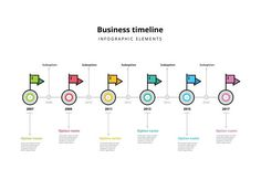 Timeline infographics template. Presentation Templates