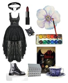 """""""all I want is...everything"""" by nataliasommers ❤ liked on Polyvore featuring art, Punk, tea, goth, Good and painting"""