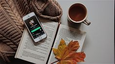 Imagine autumn, book, and music