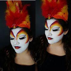 Cirque makeup #cirquemakeup #cirquedusoleil #redbirdcirquedusoleil #bennye #Lmakeupinstitute