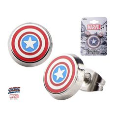 Perfect for my Bridesmaids! -Thaba Captain America Stud Earrings