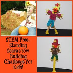 STEM Education – Free-Standing Scarecrow Building Challenge for Kids!  #halloween #STEMEducation #EDTeach #EDTech #wikkistix