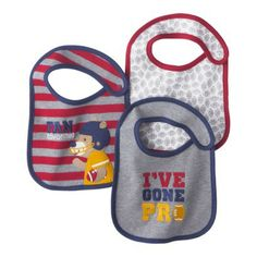 JUST ONE YOU® Made by Carters Newborn Boys' 3 Pack Bib Set - Red/Blue
