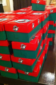 For the last two years I've thrown Operation Christmas Child box packing parties. The 2012 party is coming up, and we are in full pr… Operation Christmas Child Boxes, Packing Boxes, Party Packs, Plush Animals, Filing Cabinet, Top Ten, Storage, Children, Birthday