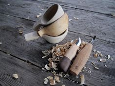 Wooden cups. charmingspaces:    Making mini kuksa.