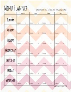 How to Make a Paleo Meal Plan 101--downloadable PDF of this menu planning template | www.thewholelifebalance.com