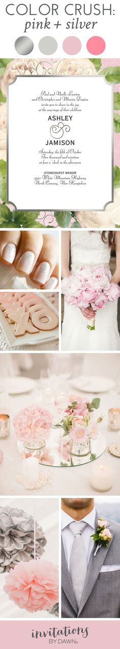 Wedding Color Crush: Pink and Silver