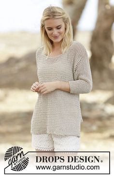 Perly May Pullover By DROPS Design - Free Knitted Pattern - (ravelry)