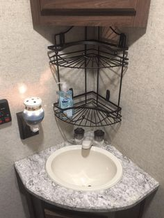 These ideas will help save space in small bathrooms and showers in campers, motorhomes, travel trailers, boats, and tiny apartments.