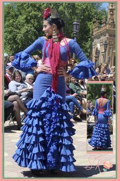 Esther Cabello y Artepeinas en el Desfile trajes flamenca Centenario Parque Maria Luisa