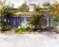 Sherry Schmidt Watercolors - I love how she interprets through an artist's eye and adapts the scene in her paintings.
