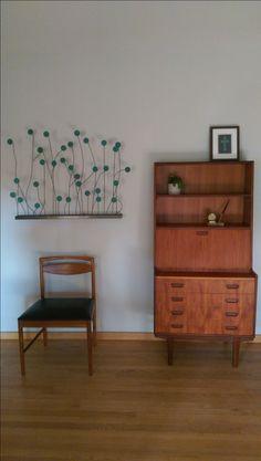 Danish mid century secretary and teak chair now in my living room!