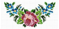 from Crafty Magazines issue 5 Cross Stitch Rose, Cross Stitch Borders, Cross Stitch Flowers, Cross Stitch Embroidery, Cross Stitch Patterns, Crochet Wall Art, Cross Stitch Geometric, Vintage Cross Stitches, Chart Design