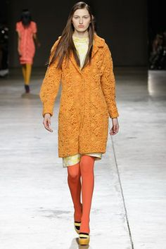 Michael van der Ham - reminds me of Burberry's Spring-Summer 2014 collection somehow. #LFW