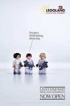 """LEGO Star Wars - Windsor Resort Miniland now open. """"I've got a GOOD feeling about this."""""""