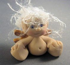 *POLYMER CLAY ~ Pixie Baby Fairy Figure