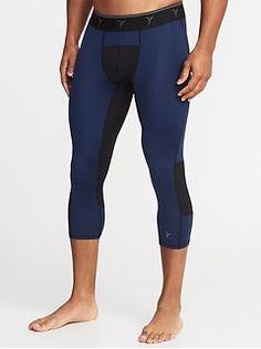 Go-Dry Base Layer Tights for Men - oldNavy Mens Tights, Mens Activewear, Old Navy, Active Wear, Capri Pants, Layers, Base, Fashion, Layering