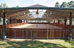 Covered riding arena! I so want this!!