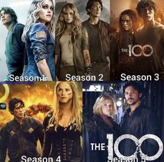 Different seasons - Bellamy Blake (Bob Morley) and Clarke Griffin (Eliza Taylor) - Bellarke ♡ The 100 Show, The 100 Cast, Movies Showing, Movies And Tv Shows, Series Movies, Tv Series, Bellamy, Stranger Things, The 100 Clexa