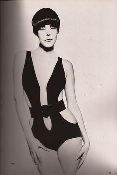 60s Vintage Clothing, Vintage Outfits, Vintage Fashion, Vintage Lingerie, Retro Swimwear, Vintage Swimsuits, Peggy Moffitt, Top Fashion Magazines, Dior Dress