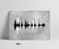 Father's day Gift, Personalized Soundwave Print, Sound Waves Printable, Multiple Voices, Song, Music, Heartbeat, Mother's Day, New Baby Gift Nature Sounds, Wave Art, Sound Waves, New Baby Gifts, In A Heartbeat, That Way, Art Inspo, Fathers Day Gifts