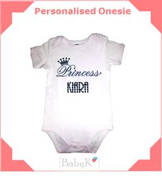 Personalised Onesies from BabyK. Cute Little Baby, Little Babies, Custom Made, Onesies, Girls, Outfits, Clothes, Fashion, Toddler Girls