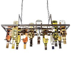 ceiling light with an appliance to add 22 different bottles... nice idea